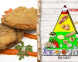 San Jacobos de setas, jamón y queso, fuente de fibra y antioxidantes