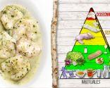 Kokotxas de bacalao en salsa, alto contenido proteico