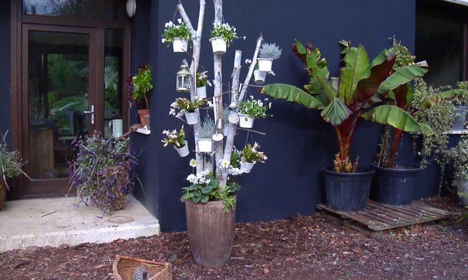 Rbol navide o con troncos de abedul bricoman a - Troncos para jardin ...