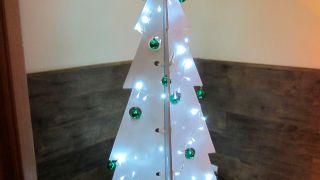 Cómo hacer un árbol de Navidad de madera desmontable