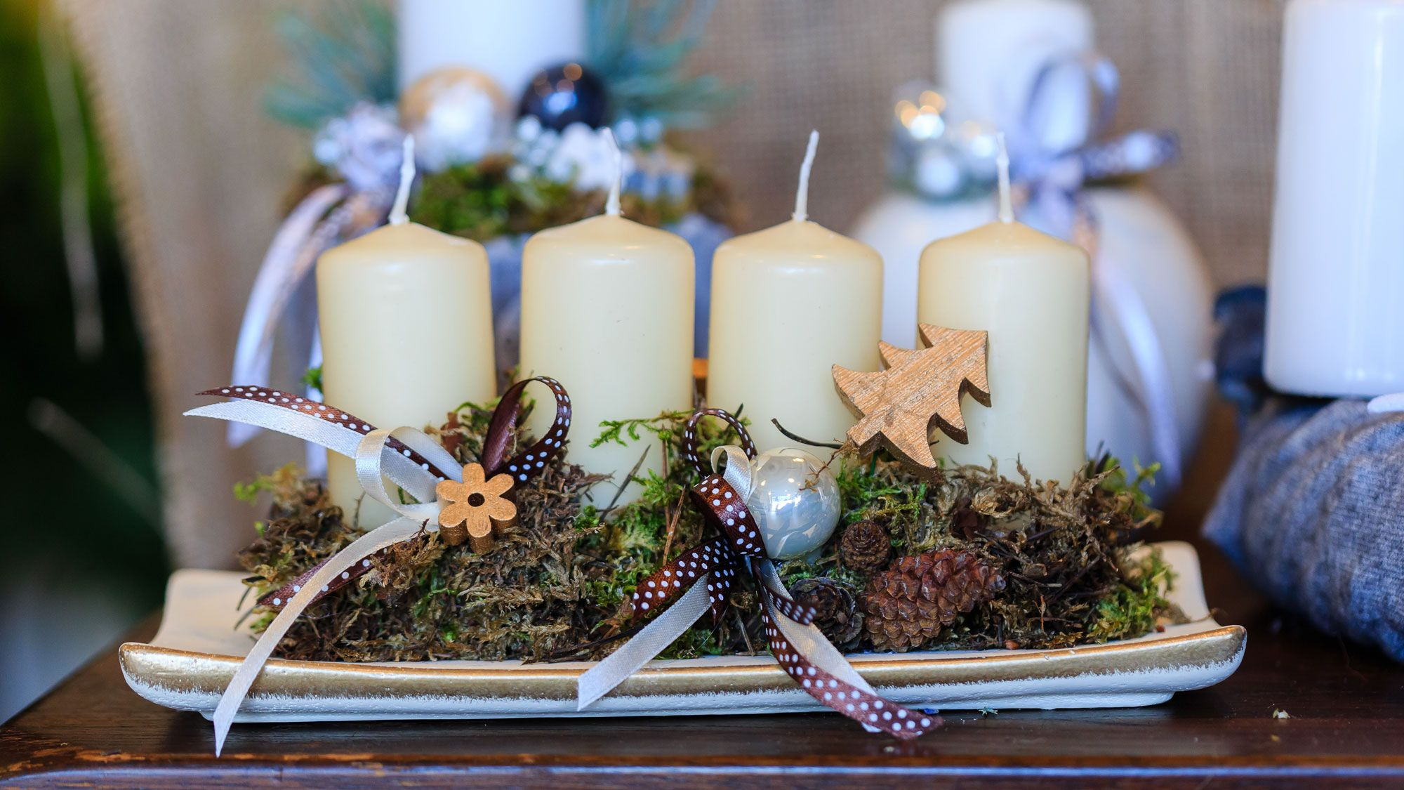 Adornos que no pueden faltar en la decoraci n navide a for Centros navidenos con velas