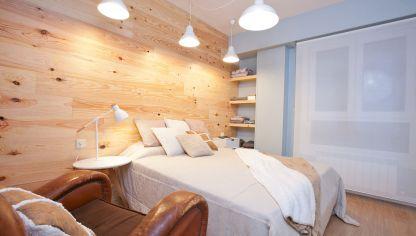 Dormitorio de estilo shabby chic decogarden - Cabecero estilo escandinavo ...
