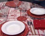 Salón comedor navideño