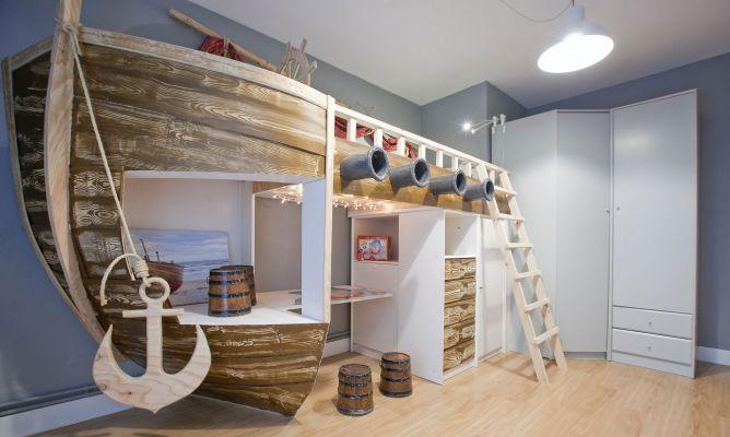 Habitaci n infantil de tem tica pirata decogarden for Programa para decorar habitaciones online