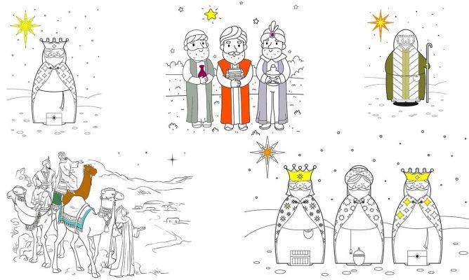 Dibujos De Reyes Magos Para Colorear Hogarmania