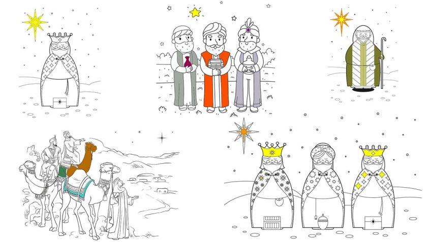 Dibujos de Reyes Magos para colorear - Hogarmania