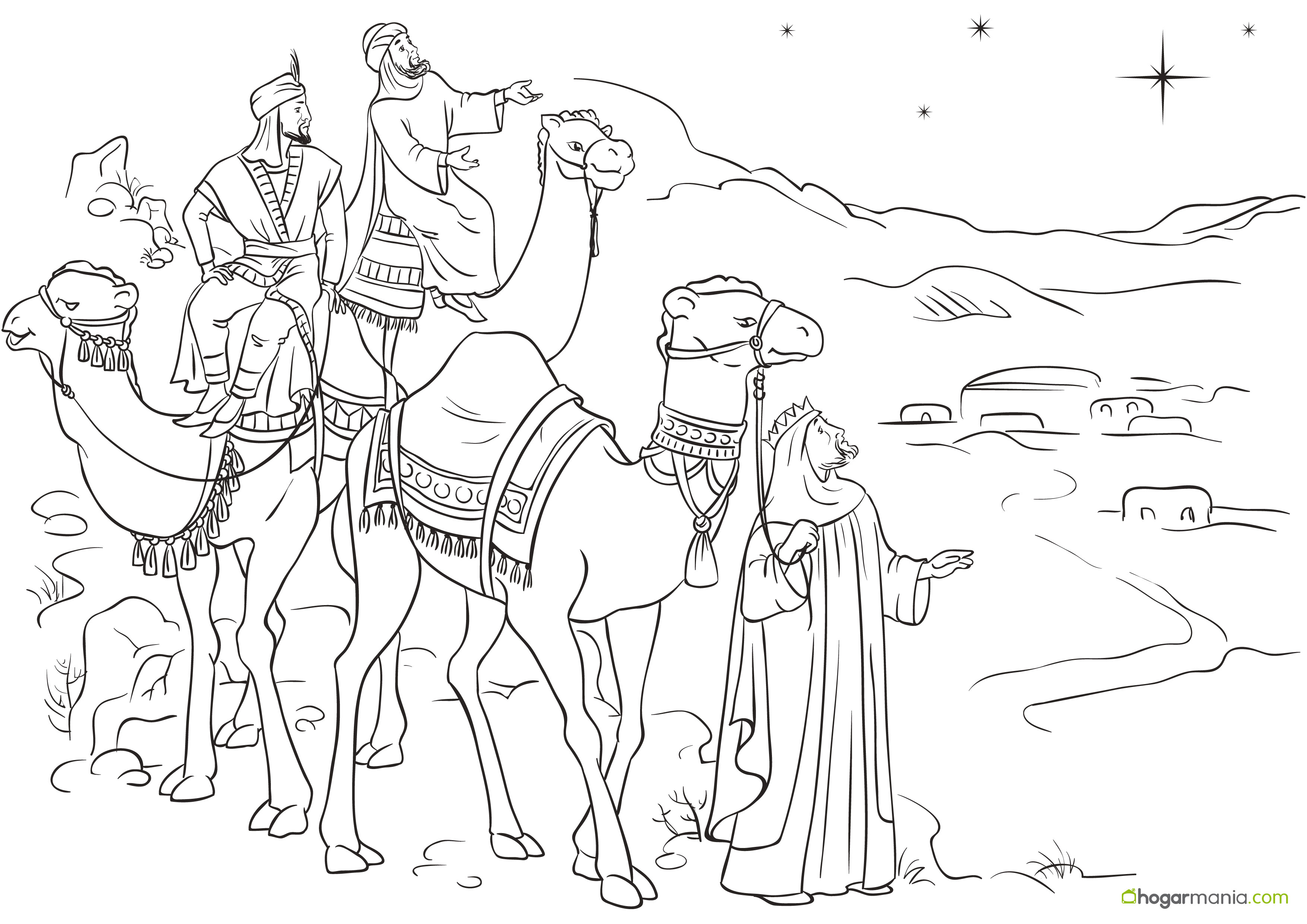 Dibujo De Rosca De Reyes Para Colorear: Dibujos De Reyes Magos Para Colorear
