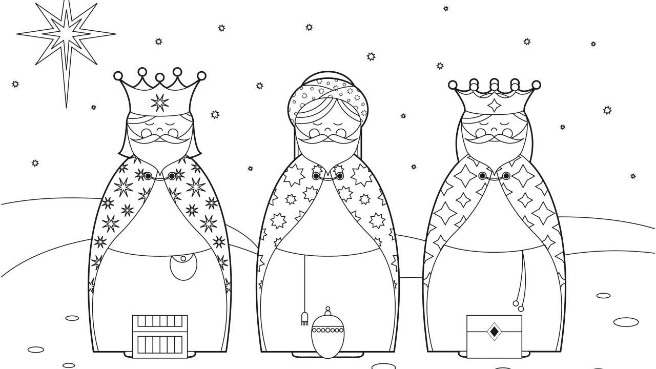 Dibujos de Reyes Magos para colorear   1