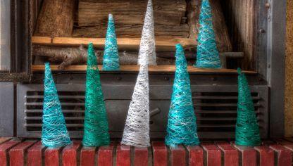 561d844a05d8 Árbol de Navidad con hilos o lana - Hogarmania