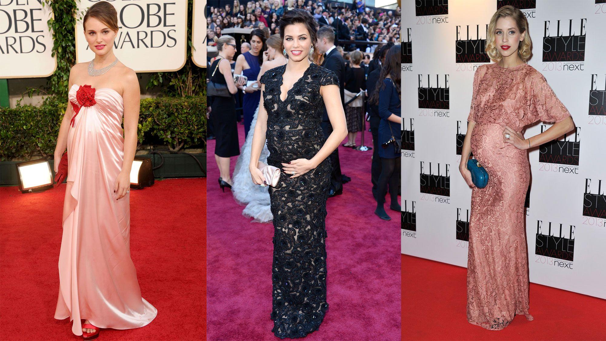 Vestidos de noche para embarazadas 2013