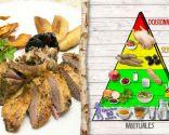 Pato con arándanos y chips de boniato, el plato de consumo ocasional