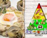 Alcachofas con huevo y jamón, plato saludable y de fácil digestión
