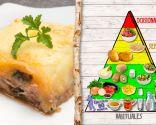 Pastel de carne, berenjena y patata, plato que aporta proteínas de calidad, especial para personas con anemia