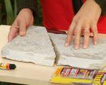 Arreglar y fijar pieza de piedra de la pared