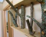 Hacer un perchero con ramas