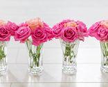 Decoración de centros de flores románticos