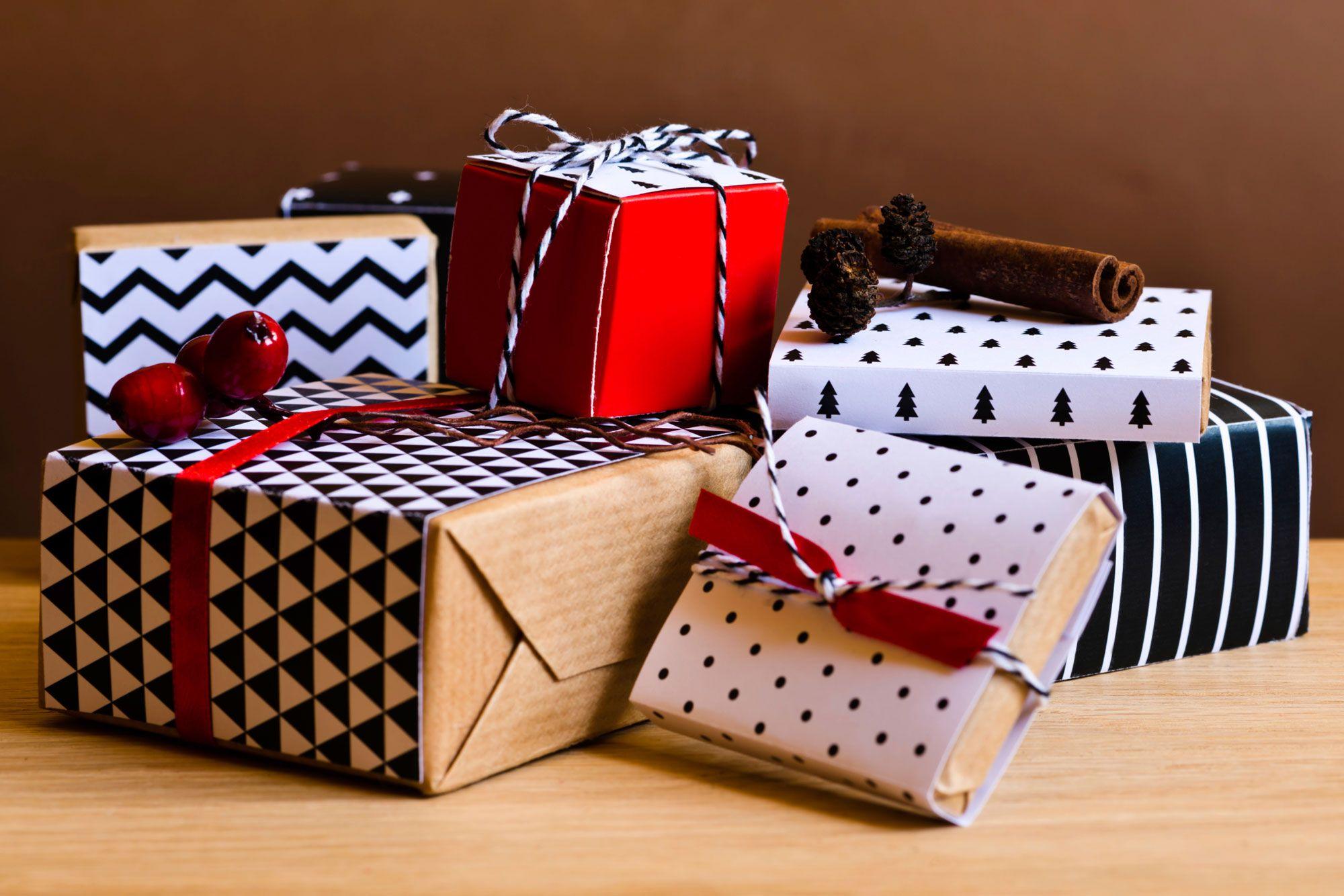 Envoltorios originales para regalos de Navidad