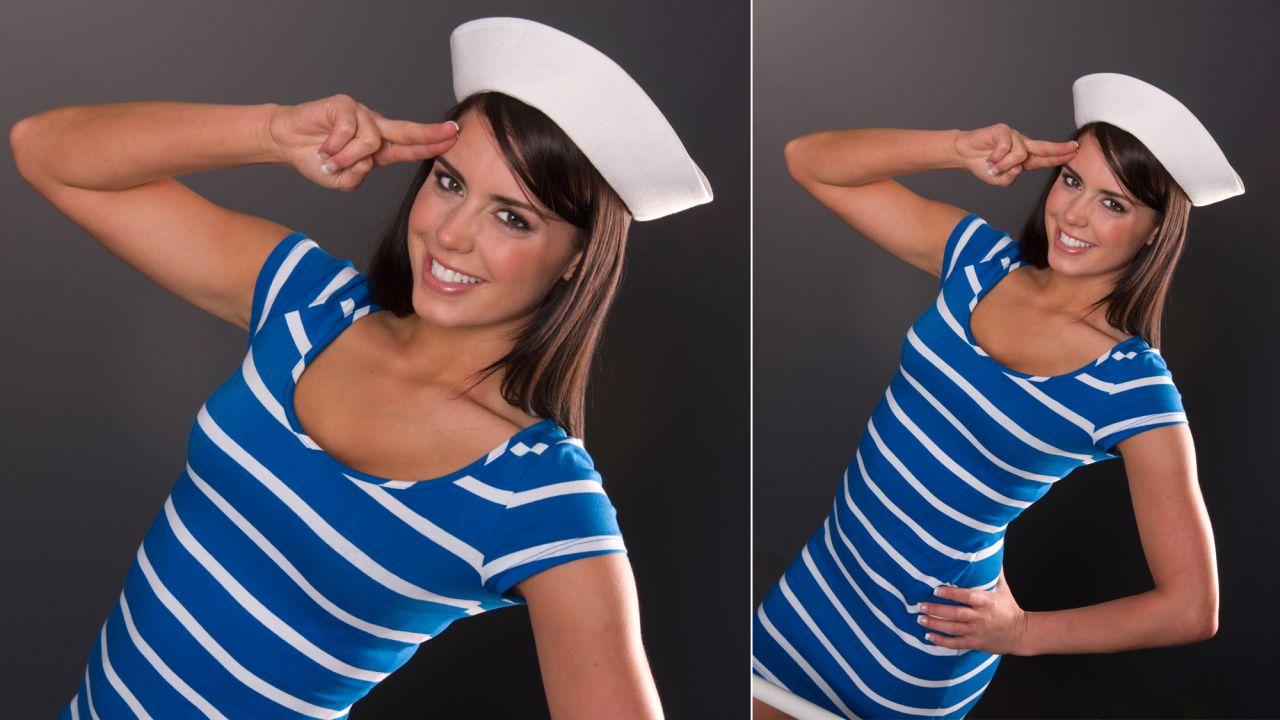 Look para disfraz de marinera - Vestido y gorro 8109508551b