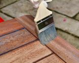 Proteger y decorar mesita de madera exterior - Cómo aplicar el lasur