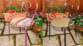 Restaurar una silla de hierro de exterior