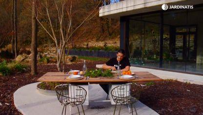 para mesa con jardineras