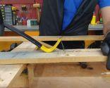 Hacer cabecero de madera con forma de casas