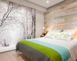 Dormitorio cálido y luminoso de ambiente natural