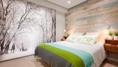 Dormitorio Para Pareja Joven En Blanco Y Azul Hogarmania