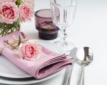 Decoración romántica para mesas
