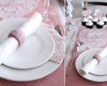 mesa romántica para dos - mantel y servilletas