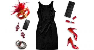 Look fashion de Carnaval en negro y rojo
