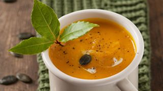 Sopa nutritiva de calabaza y jengibre