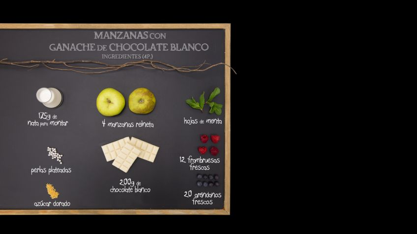 Manzanas con ganache de chocolate blanco - Ingredientes