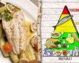 Chicharro con verduras, para personas con colesterol o estreñimiento
