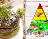 Hamburguesa con champiñones, plato saludable y nutritivo