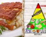 Lasaña de bacalao y pimientos, plato nutritivo recomendado para todos