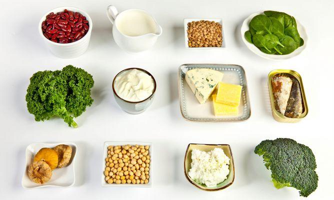Vitamina alimentos d y calcio
