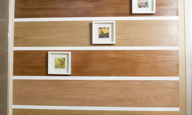 Revestimiento decorativo de pared bricoman a for Madera en paredes interiores