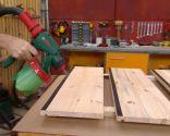 Peldaños de madera para escalera