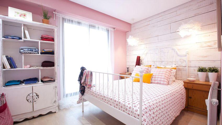 Dormitorio romántico en rosa y blanco   decogarden