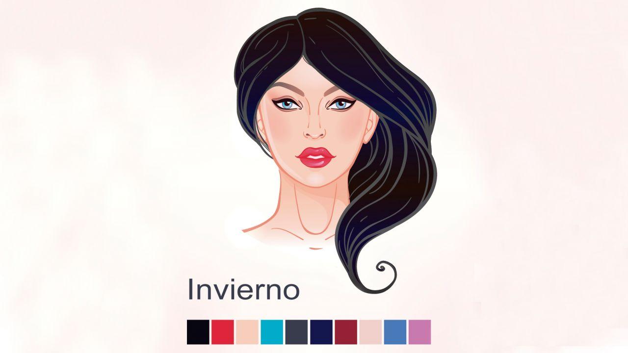 Colores según piel, cabello y ojos - Mujer invierno