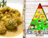 Pollo en pepitoria, para personas con colesterol o ácido úrico elevado
