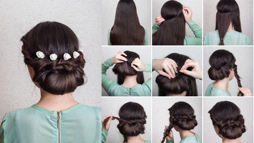 Peinados de moda recogidos paso a paso