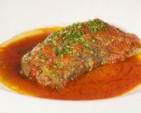 Pimientos verdes rellenos de carne con tomate