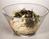 Ensalada de fideos de arroz y algas