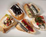 5 pinchos de anchoas marinadas