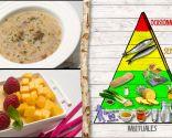 Sopa de puerros con sardina vieja y pan, plato para mejorar la digestión