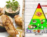 Mini pinchos de pollo con verduras, para personas con problemas cardiovasculares