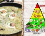 Patatas en salsa verde con huevos, para dietas de adelgazamiento