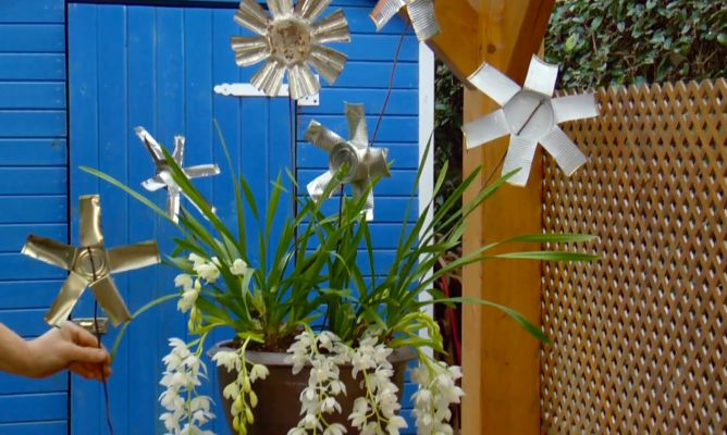 Flores metálicas